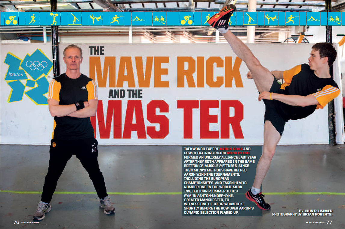 Mick Clegg & Aaron Cook Muscle and Fitness magazine