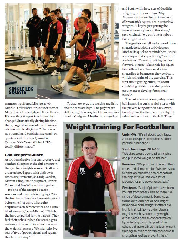 Mike Clegg Muscle and Fitness magazine page 4