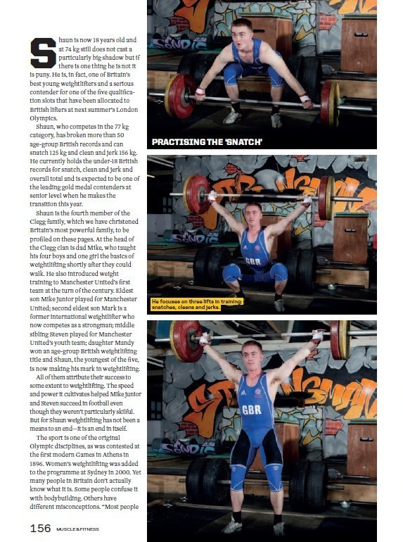 Shaun Clegg Muscle and Fitness magazine page 2
