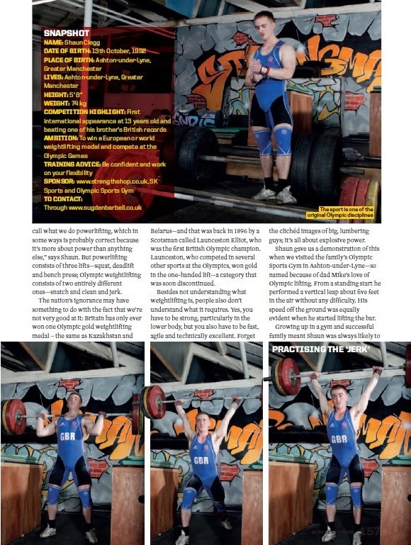 Shaun Clegg Muscle and Fitness magazine page 3