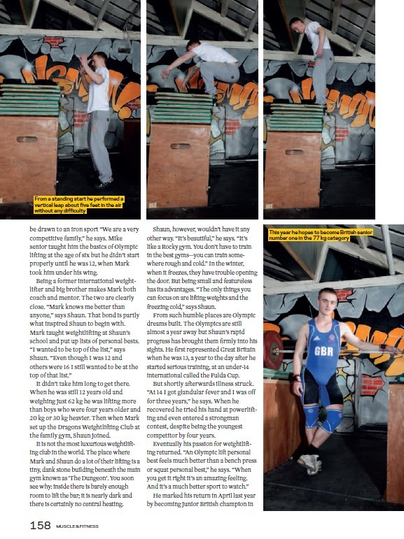 Shaun Clegg Muscle and Fitness magazine page 4