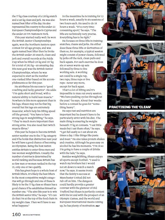 Shaun Clegg Muscle and Fitness magazine page 5