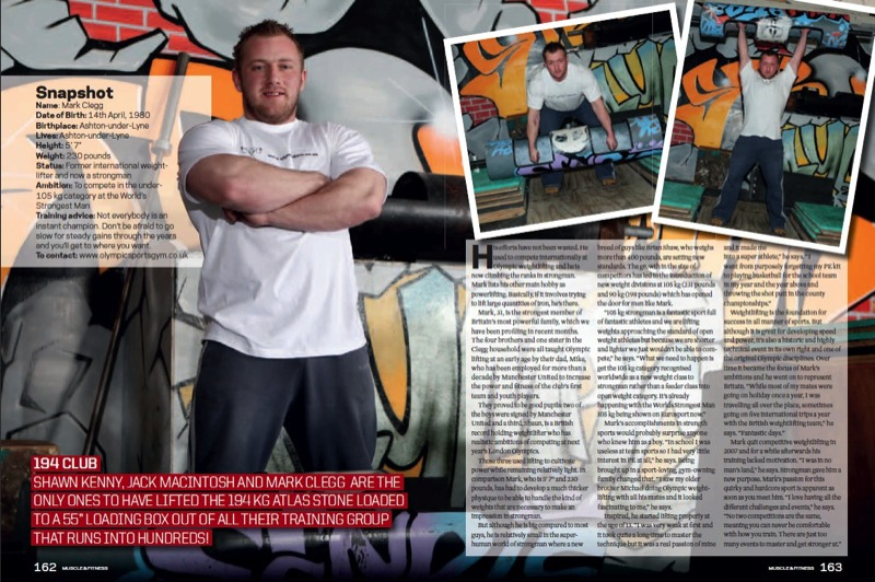 Mark Clegg Muscle and Fitness magazine page 2