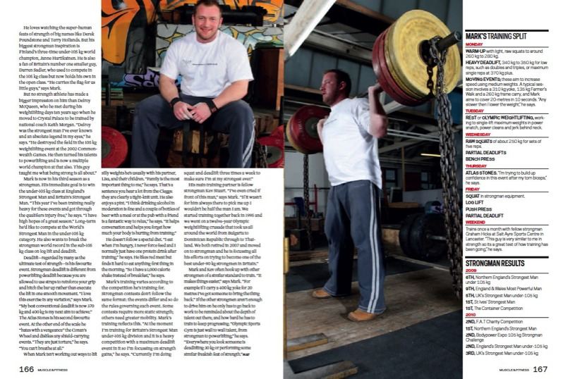 Mark Clegg Muscle and Fitness magazine page 3